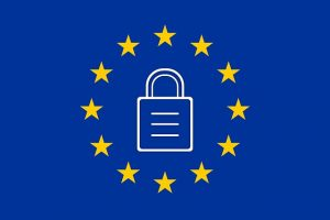 Picture of European Flag with padlock in centre