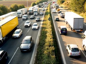 Picture of very heavy traffic on motorway